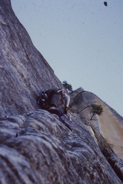 Pitch off the bivy ledge.