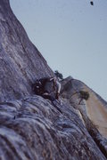 Rock Climbing Photo: Pitch off the bivy ledge.