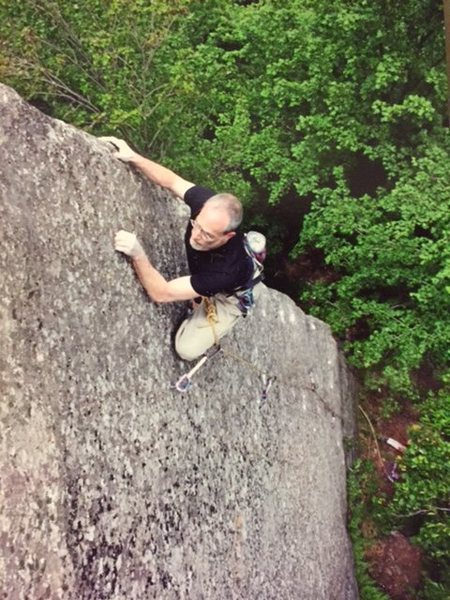 Rock Climbing Photo: Doc on Medicine Man.  We waited for him to recover...