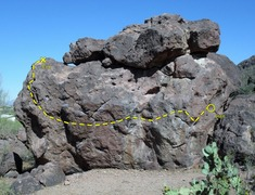 Rock Climbing Photo: I think this is the line that's described here...a...