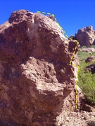 Rock Climbing Photo: This is the arete on the boulder just uphill (east...