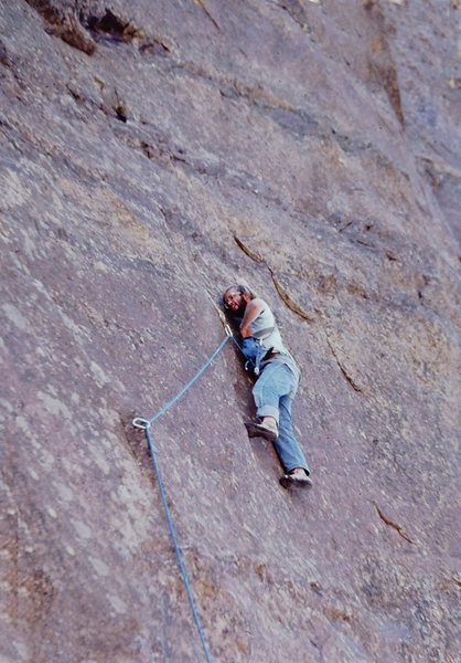 Rock Climbing Photo: Unknown climber on Marie Antoinette around 1977-78...
