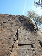 Rock Climbing Photo: Leading up JLE, Rock was MUCH smoother than I expe...
