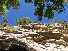 Rock Climbing Photo: Going through it