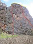 Rock Climbing Photo: Gringo Loco (far left), Cactus Crack (far right), ...