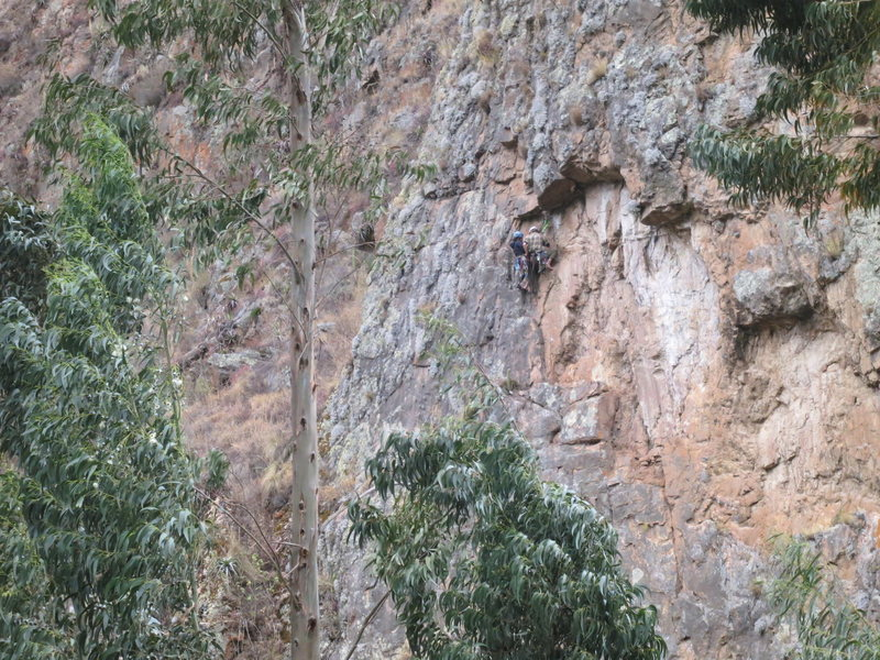 Rock Climbing Photo: Duncan and Vai at the reunion point from across th...