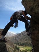 Rock Climbing Photo: Jamil getting on the traverse, looking across the ...