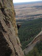 Rock Climbing Photo: Sharon cruising her way to a flash send of Golden ...