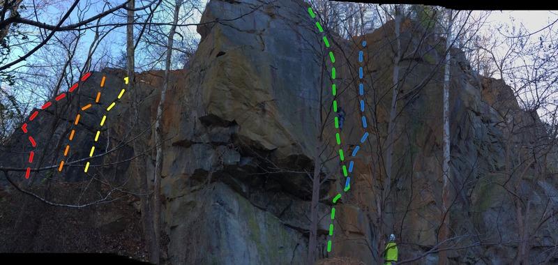 Rock Climbing Photo: Overview of Little Gunpowder Crag