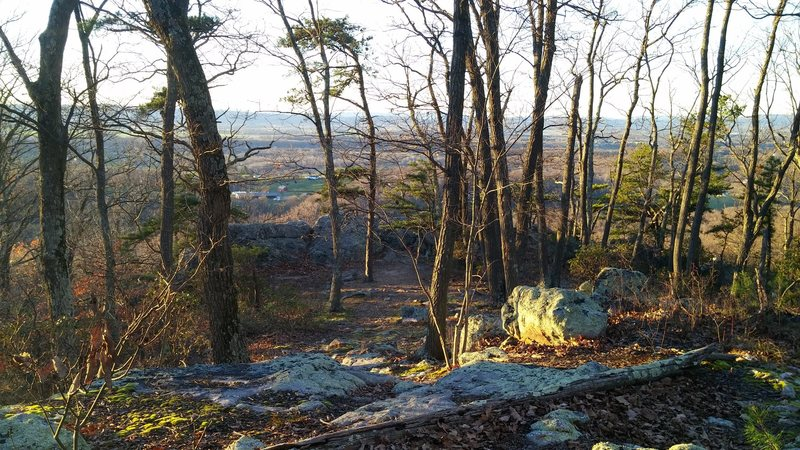 The overlook at the top of White Rocks.