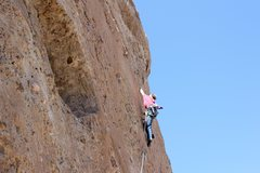 "Rock Climbing Photo: Ethan on the second to last bolt. "" Fun route..."