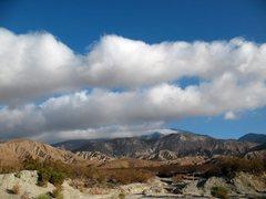 Rock Climbing Photo: Sun and clouds, San Gorgonio Pass