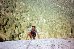 Rock Climbing Photo: Topping out on Ten Karat Gold (5.10a R), Suicide R...