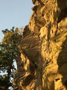 Rock Climbing Photo: Enter The Void from the ground.