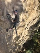 Rock Climbing Photo: Charlie at the belay anchor of Enter The Void. The...