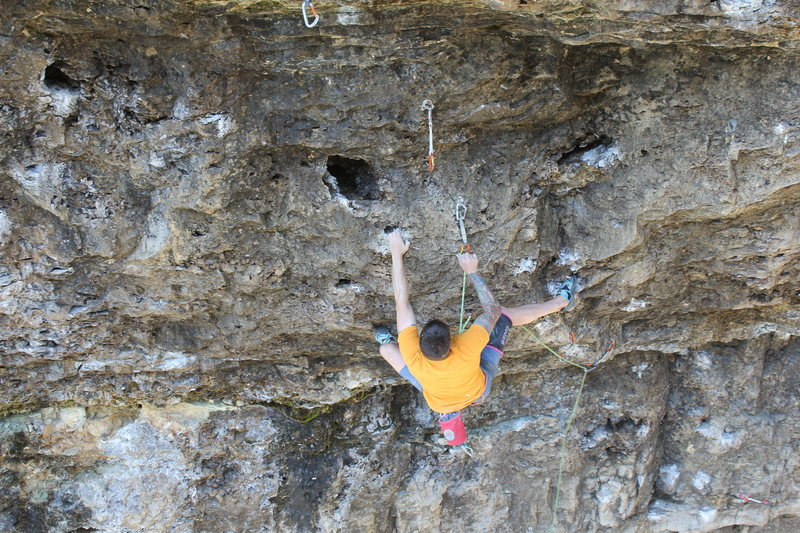 Rock Climbing Photo: Clay Adams working through the opening moves of &q...