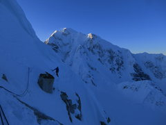 Rock Climbing Photo: The upper ridge close to the summit. Hunter in the...