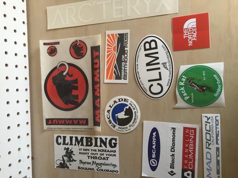 Rock Climbing Photo: stickers