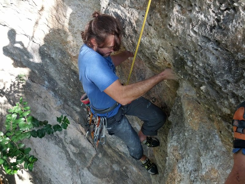 Rock Climbing Photo: Just past the big undercling