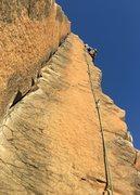Rock Climbing Photo: Eric leading Whipsaw