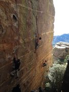 Rock Climbing Photo: A nice triple action shot: left to right is Holey ...
