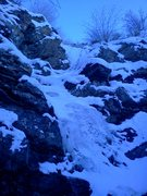 Rock Climbing Photo: Gully ice with some mixed terrain