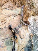 Rock Climbing Photo: Pitch 1 anchors.  Bomber.