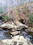 Rock Climbing Photo: Creek crossing.  Look for three-fingered tree.