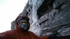 Cold damp wind, Stairway, Nov 21, 7 AM