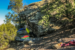Rock Climbing Photo: At the first move on Calm Like A Bomb. From there,...