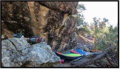 Rock Climbing Photo: Calm Like A Bomb problem beta.