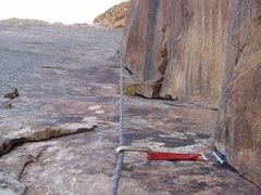 Rock Climbing Photo: Sewing up the upper pitches. Takes good gear in ad...