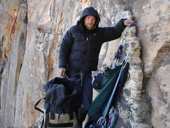 Rock Climbing Photo: MPer Mike Veazey on Rainbow Ledge during a Feb. as...
