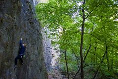 Rock Climbing Photo: on the route