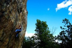 Rock Climbing Photo: Michael Cohen on the route~