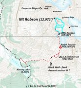 Rock Climbing Photo: Robson's South Face Route No one else calls it the...