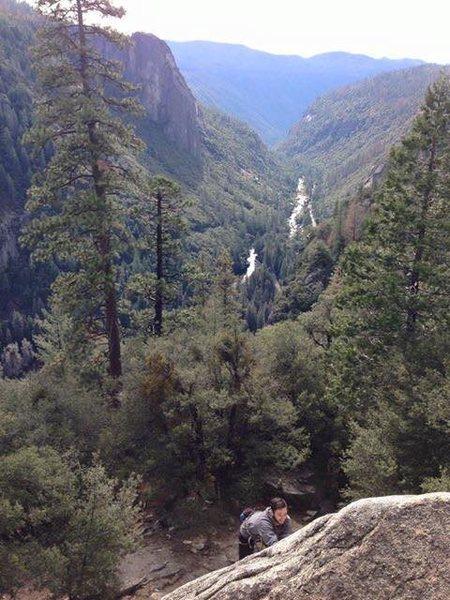 Rock Climbing Photo: On Pot Belly
