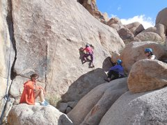 """Rock Climbing Photo: Stacy on """"Semisweet."""""""