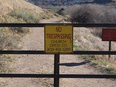 Rock Climbing Photo: No Trespassing.