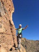 Rock Climbing Photo: AC on the FA of the traverse.