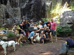 The gaggle of goofy climbers @ AAA Wall!