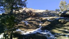 Rock Climbing Photo: The Pup, right side (north) of east face. No fixed...