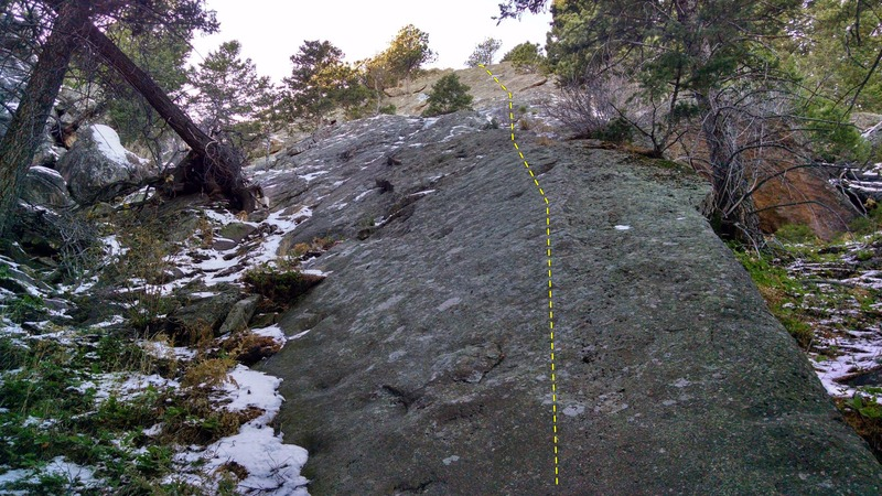Rock Climbing Photo: Base of the route. Correct start will be on the no...