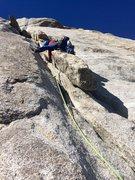 Rock Climbing Photo: Richard Shore leading P3. Photo: Johnny K