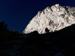 Rock Climbing Photo: The lower east face of Wells Peak as seen from the...