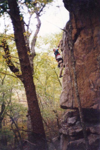 Rock Climbing Photo: Paul DeLapp on the FA in 1994