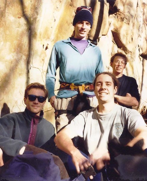 Rock Climbing Photo: Bozoo Crag Crew at Savory area circa 1995 Paul DeL...