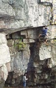 Rock Climbing Photo: Dean Metzler visits from CO and leads his route Ra...