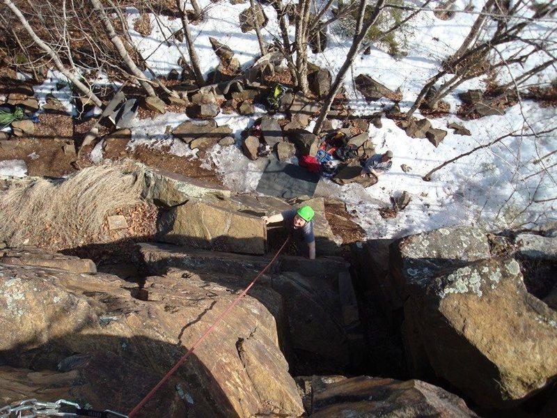 Rock Climbing Photo: Heading up Barrel of Monkeys