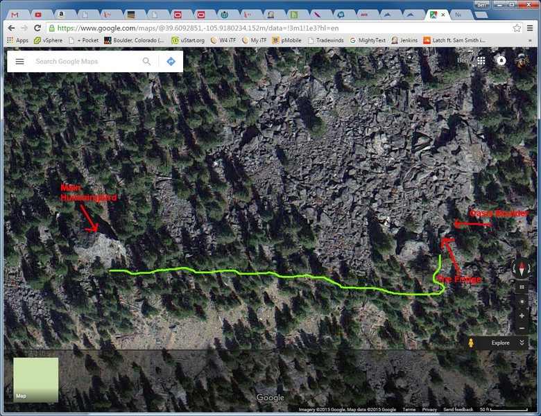 Rock Climbing Photo: Rough overhead map. Would love to have someone add...